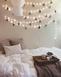 Fairy lights bedroom 210x262 8 decorating tips to create your ideal student room